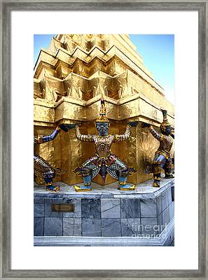 Support Framed Print by Thanh Tran