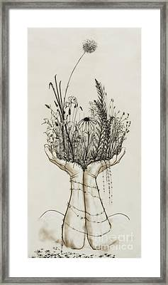 Supported Meadow Framed Print