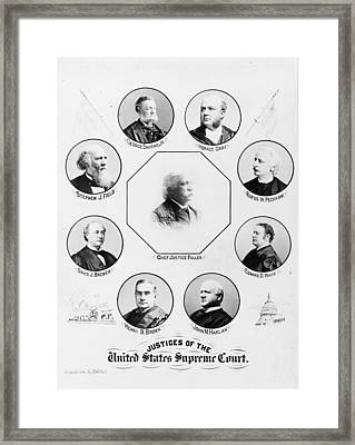 Supreme Court, 1896 Framed Print