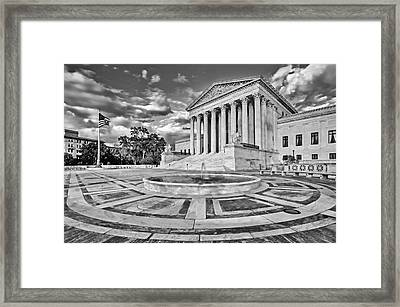 Supreme Court Of The United States Bw Framed Print by Susan Candelario