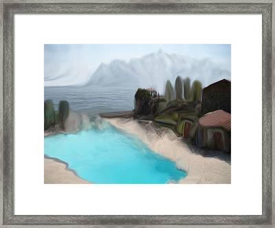 Sur La Mer  C#  72 Framed Print