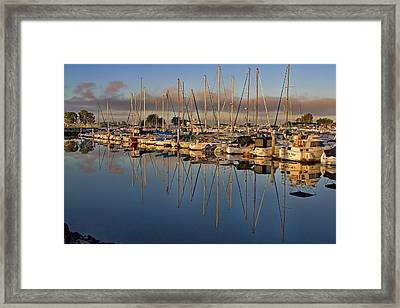 Framed Print featuring the photograph Sur La Mer by Gary Holmes