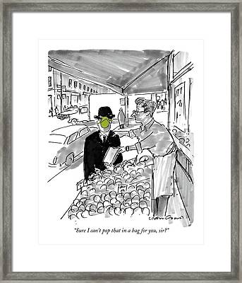 Sure I Can't Pop That In A Bag Framed Print by Michael Crawford