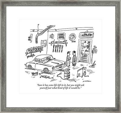 Sure It Has Some Life Left Framed Print by Michael Maslin