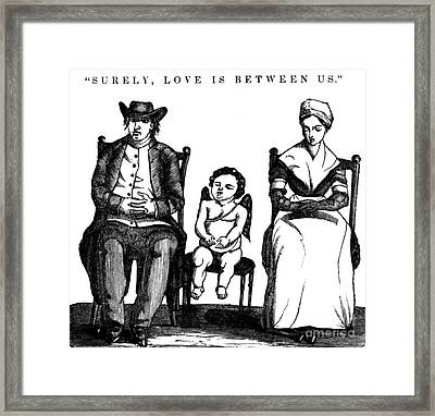 Surely, Love Is Between Us, 1836 Framed Print by Science Source