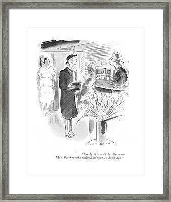 Surely This Can't Be The Same Mrs. Parcher Who Framed Print
