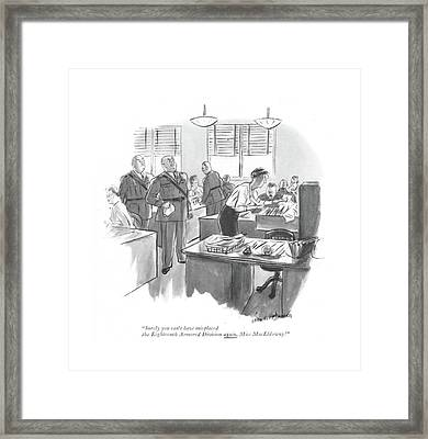 Surely You Can't Have Misplaced The Eighteenth Framed Print by Helen E. Hokinson
