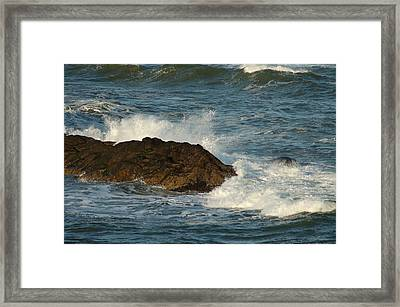 Surf And Rocks Framed Print