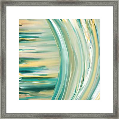 Surf And Sand Framed Print by Lourry Legarde