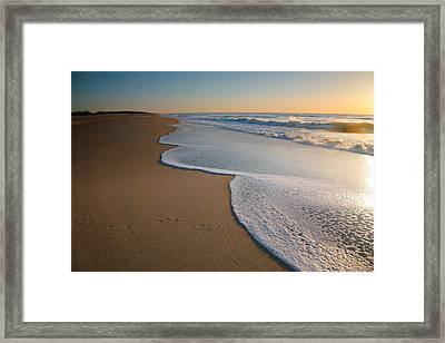 Surf And Sand Framed Print by Steven Ainsworth