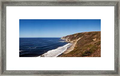 Surf At The Coast, Tomales Point, Point Framed Print