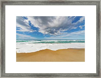 Surf At The Water's Edge Framed Print by Wladimir Bulgar
