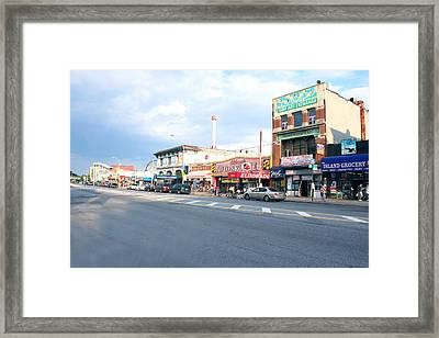 Surf Avenue In Coney Island Framed Print