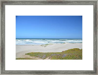 Surf Beach Lompoc California 3 Framed Print
