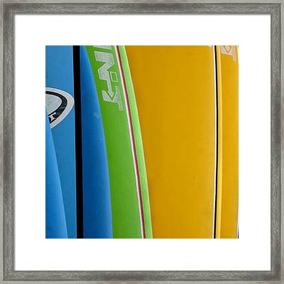Surf Boards Framed Print by Art Block Collections