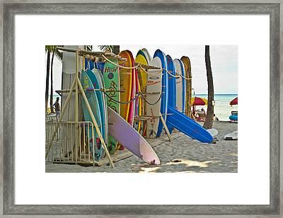 Surf Boards Framed Print by Matt Radcliffe