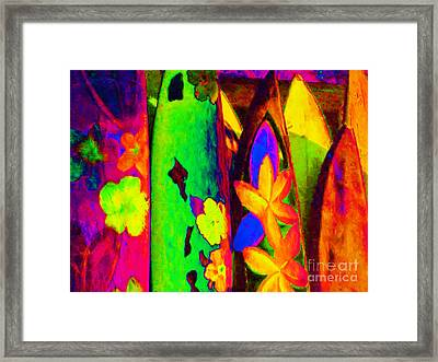 Surf Boards V2 Framed Print by Wingsdomain Art and Photography