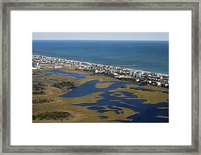 Surf City North Carolina Aerial Framed Print