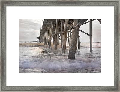 Surf City Ocean Pier Framed Print