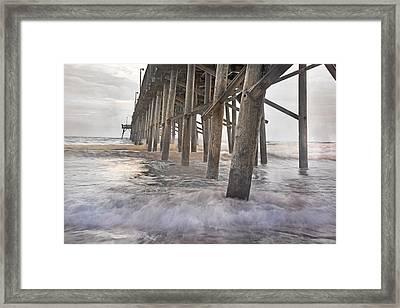 Surf City Ocean Pier Framed Print by Betsy Knapp