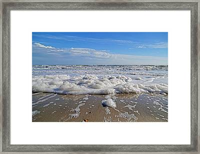 Surf Clouds Framed Print by Betsy Knapp