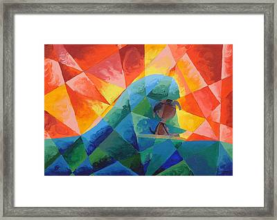 Surf Dog Framed Print by Lola Connelly