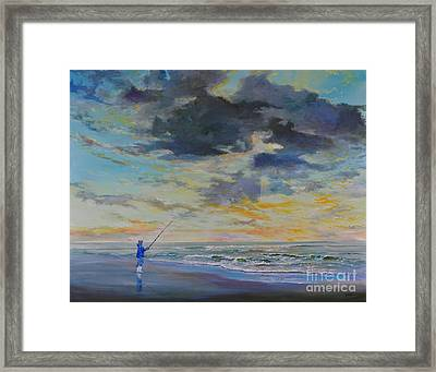 Surf Fishing Framed Print by AnnaJo Vahle