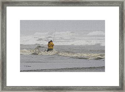 Surf Fishing Enthusiast Framed Print by Tom Janca