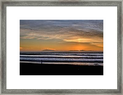 Framed Print featuring the photograph Surf Fishing by Michael Gordon