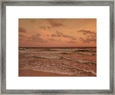 Surf - Florida Framed Print by Sandy Keeton