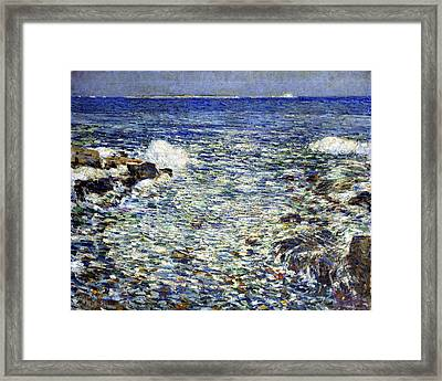 Surf Framed Print by Frederick Childe Hassam