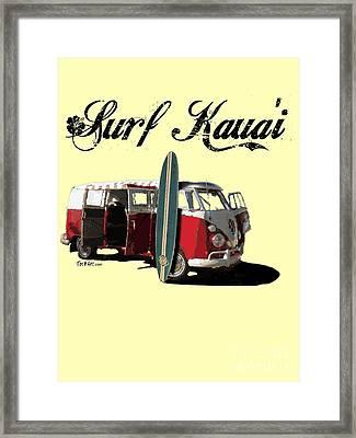 Surf Kauai Framed Print