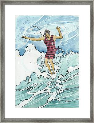 Surf Leap Framed Print