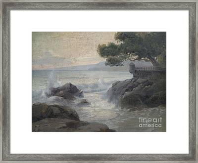 Surf On A Rocky Coast Framed Print by Celestial Images