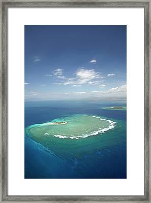 Surf On Reef Off Namotu Island Framed Print by David Wall