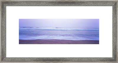 Surf On The Beach At Dawn, Point Arena Framed Print