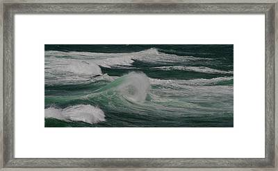 Surf On The Beach, Cape Kiwanda State Framed Print by Panoramic Images