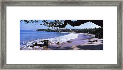 Surf On The Beach, Mauna Kea, Hawaii Framed Print by Panoramic Images