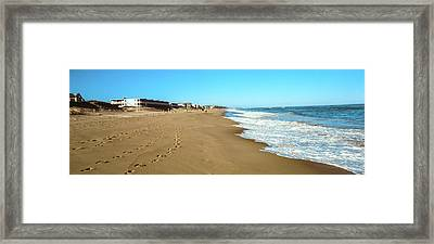 Surf On The Beach, Montauk Point Framed Print by Panoramic Images