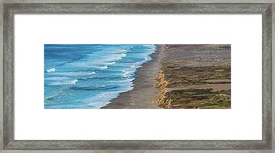 Surf On The Beach, Point Reyes National Framed Print