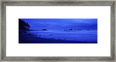 Surf On The Beach, Ruby Beach, Olympic Framed Print by Panoramic Images