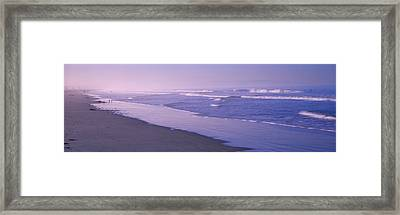 Surf On The Beach, Santa Monica, Los Framed Print