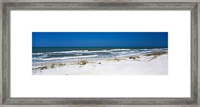 Surf On The Beach, St. Joseph Peninsula Framed Print