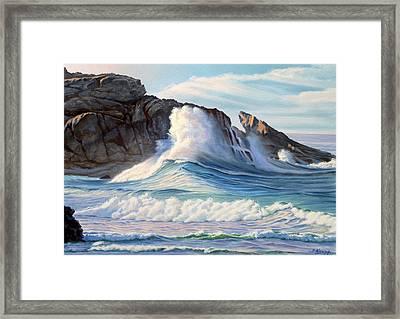 Surf Framed Print by Paul Krapf