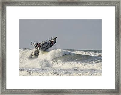 Surf Rescue Boat Framed Print