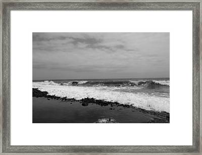 Surf Rolling In  Framed Print