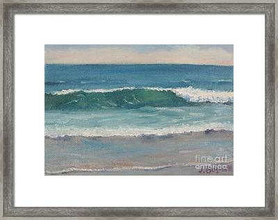 Surf Series 5 Framed Print by Jennifer Boswell
