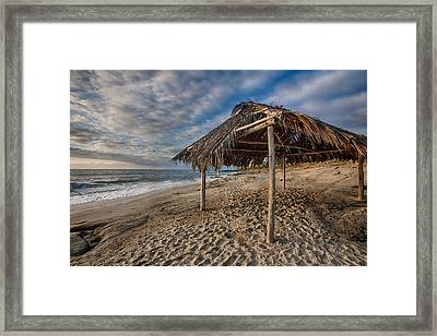 Surf Shack Framed Print by Peter Tellone