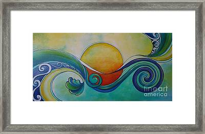 Surf Sun Spirit Framed Print