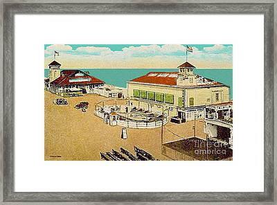 Surf Theatre And Seaview Pavilion At Salisbury Beach Ma 1937 Framed Print